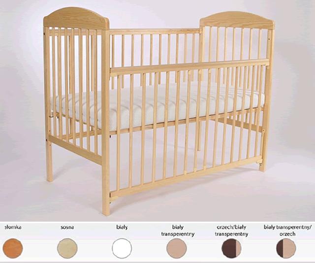 Sosnowe łóżeczko dziecięce 120x60 Tomi XV z opuszczanym bokiem