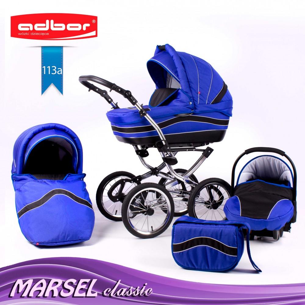 Klasyczny wózek głęboko spacerowy Marsel Classic Adbor