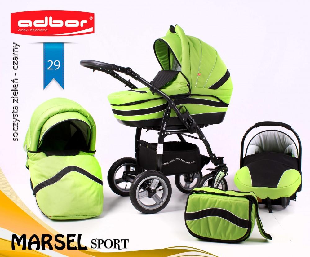 Wózek głęboko spacerowy Marsel Sport firmy Adbor