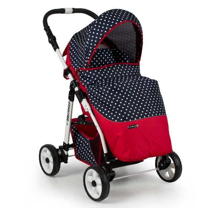 Komfortowy wózek spacerowy Oskar Adbor kolekcja kropki