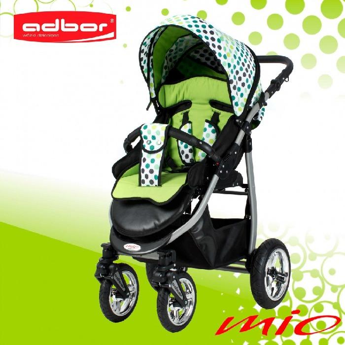 Lekki wózek spacerowy Mio Alu kolekcja groszki Adbor
