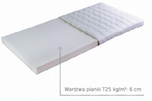 Janpol materac piankowy do łóżeczka dziecięcego Talia średnio twardy 140 x70 cm