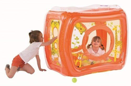 Dadmuchiwany basen dla dzieci - kojec + 50 piłek gratis Safari Ludi