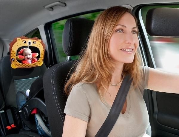 Lusterko do samochodu dla dzieci podróżujących tyłem do kierunku jazdy Panda Ben Bat