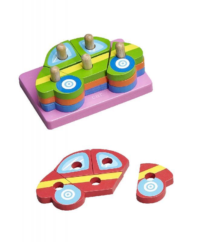 Baby more klocki drewniane-układanka - Samochody