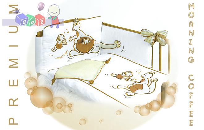 Czteroelementowy zestaw pośćieli Kangaro do łóżeczek 140x70