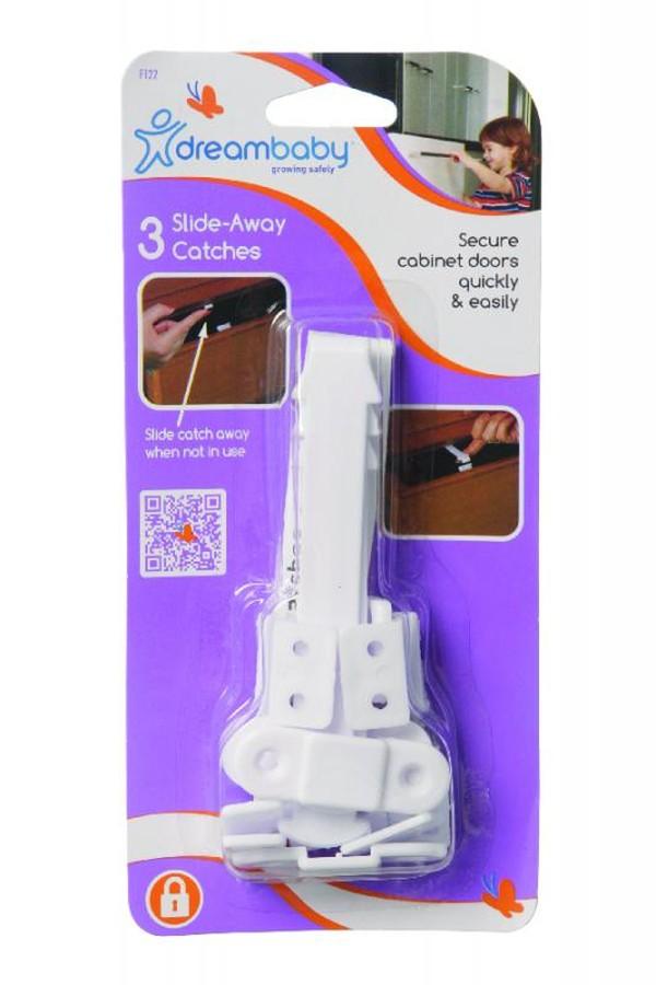 Dreambaby Zsuwane zatrzaski 3 sztuki - System automatycznego zamykania