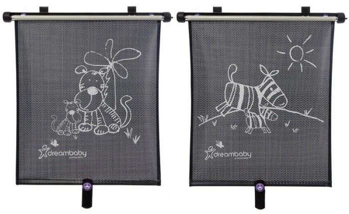 Dreambaby Roleta samochodowa UV dwustronna - Zebra i tygrys - 2szt