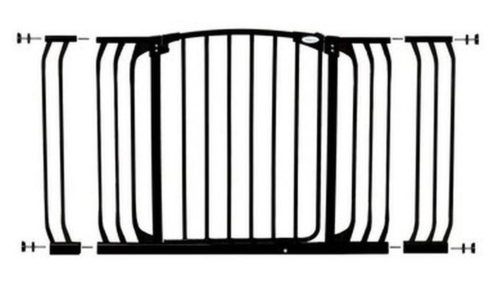 Dreambaby Zestaw Combo - bramka Chelsea z rozszerzeniami 9cm + 18cm - czarna
