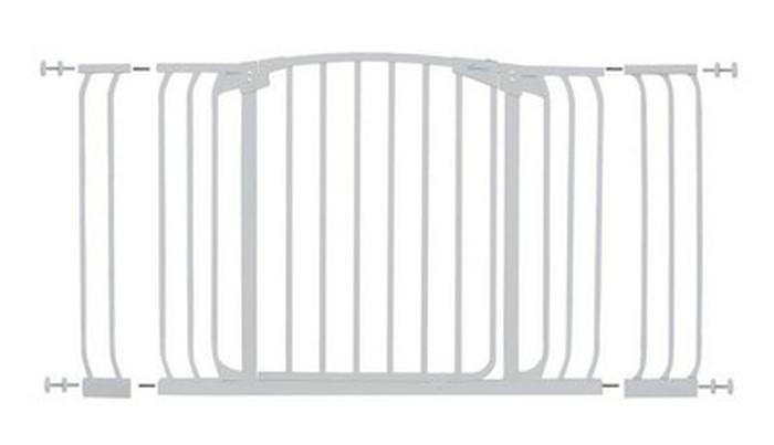 Dreambaby Zestaw Combo - bramka Chelsea z rozszerzeniami 9cm + 18cm - biała