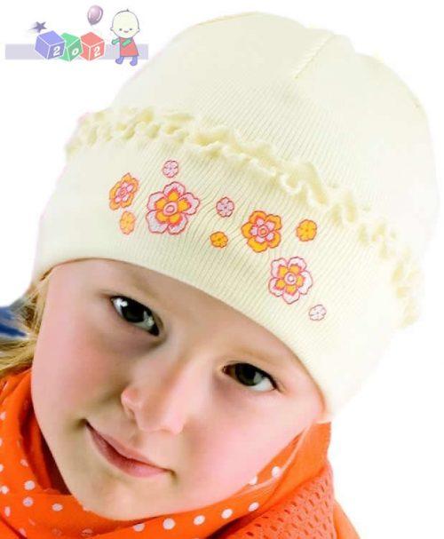 Kolorowa czapeczka na wiosnę i jesień Fale