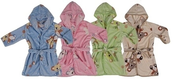 Szlafrok dziecięcy Velur Fleece 92-104 cm Velur Fleece