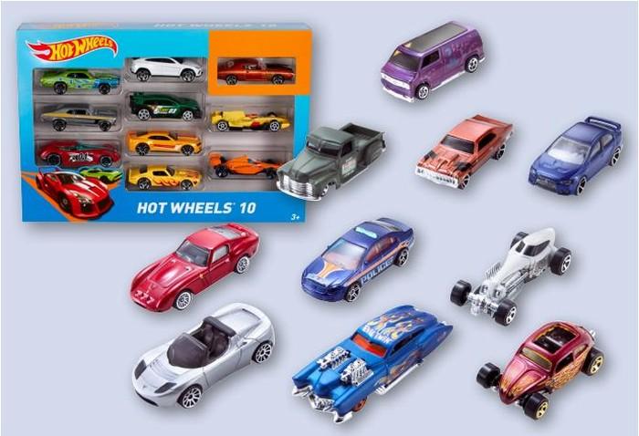 Hot Wheels Samochodziki 10-pack