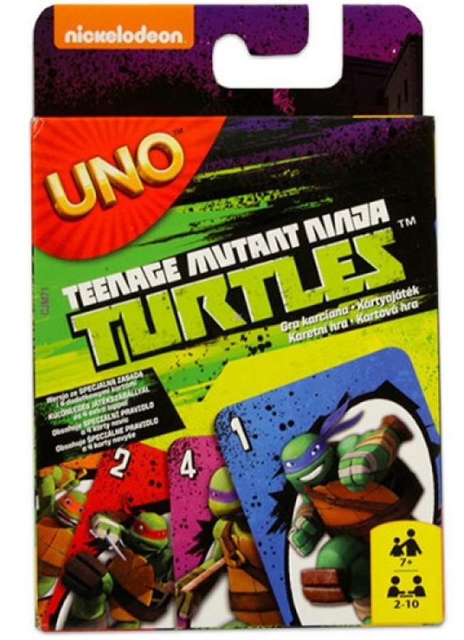 Mattel Karty do gry Uno - Żółwie Ninja