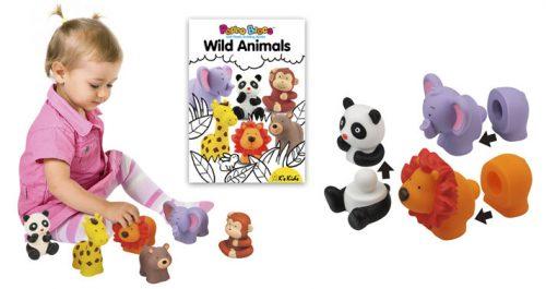 Klocki Popboblocs Niedźwiedź. Rozwijające zmysły dziecka. Produkt K`S Kids.