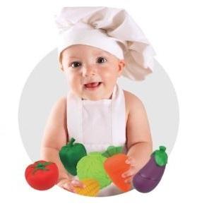 Klocki popboblocks warzywa sałata bakłażan. Produkt K`S Kids.