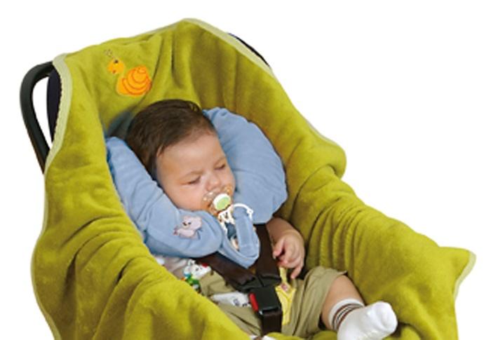 Podusia pod szyję z haftem misiaczek Baby Matex