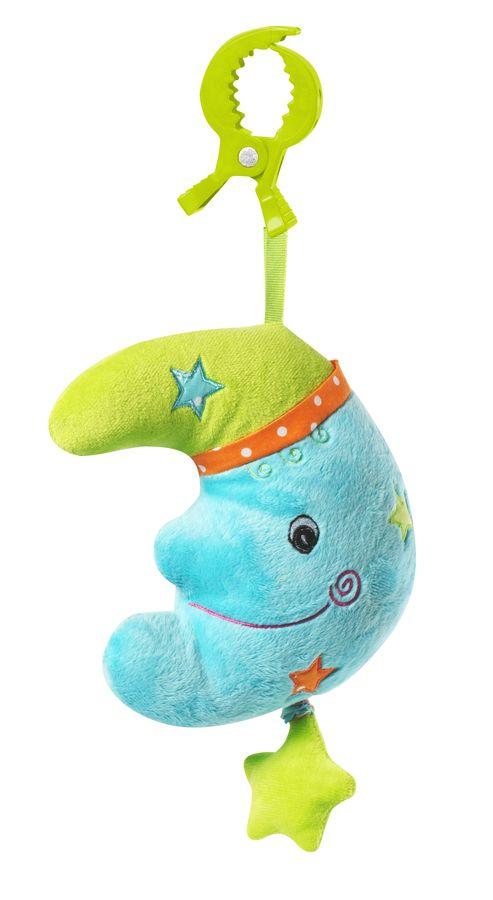 Welurowa zabawka z pozytywką BabyOno - księżyc