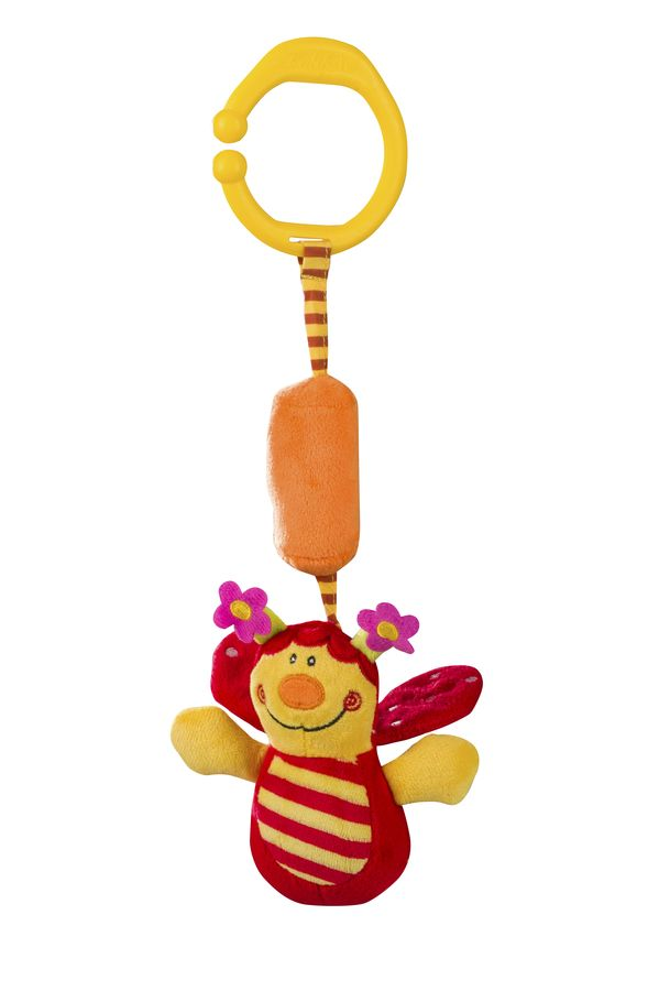 Dzwoniąca zabawka welurowa BabyOno - biedronka