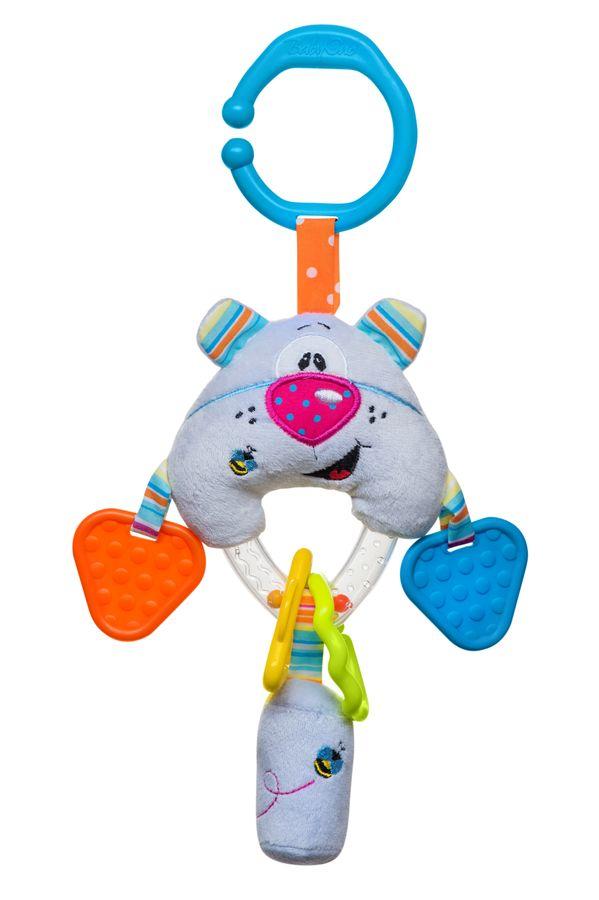 Zabawka dla dziecka do wózka i łóżeczka BabyOno Miś - gryzaki, grzechotka, dzwoneczek