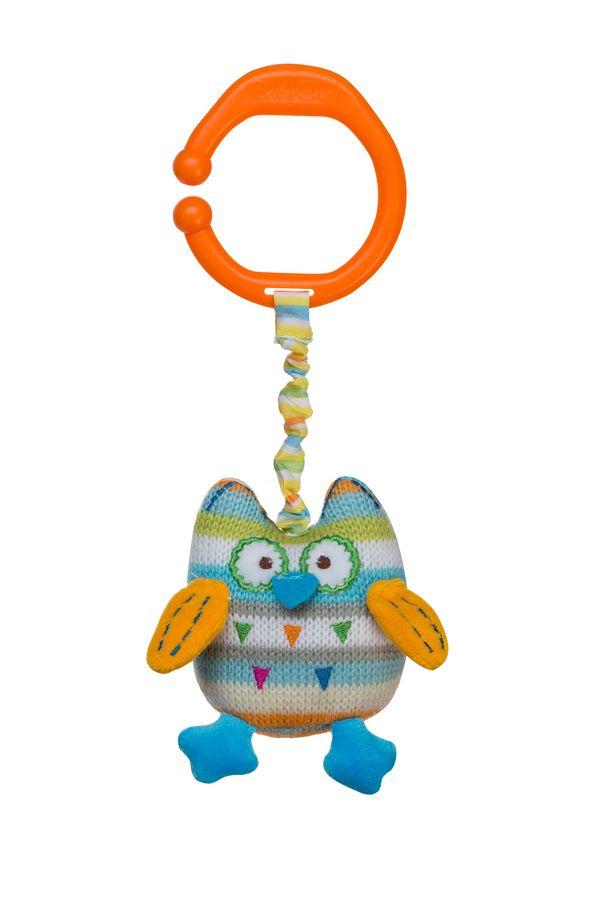 Zabawka BabyOno z wibracją do wózka fotelika i łóżeczka - sowa