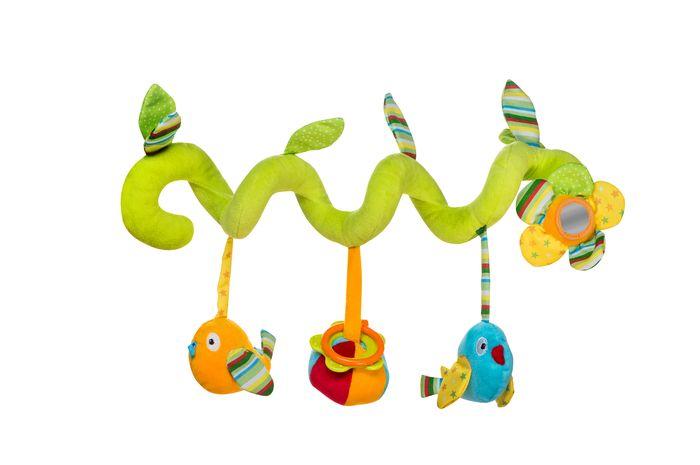 Zawieszka spiralna do łóżeczka, wózka i fotelika BabyOno - ptaszki