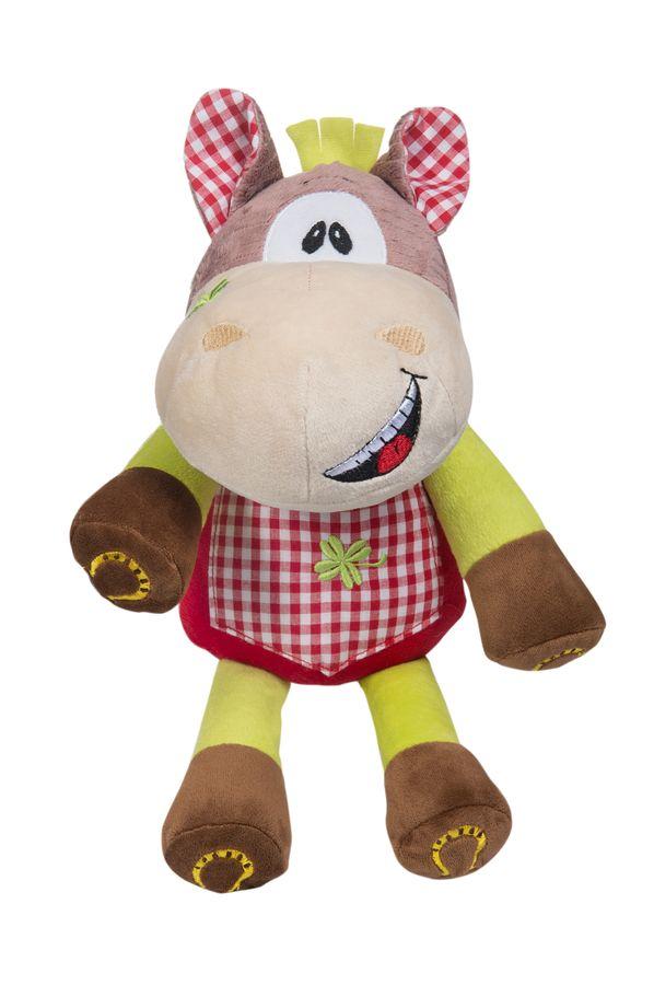 Zabawka maskotka welurowa z grzechotką BabyOno - konik