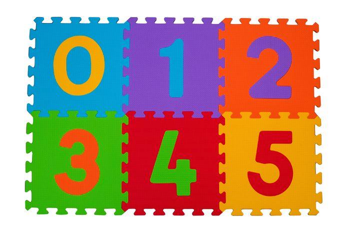 Bezpieczne piankowe puzzle BabyOno - Cyfry 6 szt.
