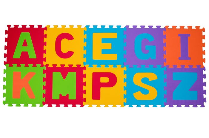Bezpieczne puzzle piankowe dla dzieci 6m+ BabyOno - Litery 10 szt.