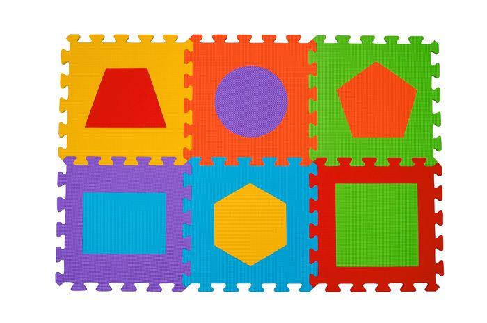Piankowe puzzle BabyOno - Figury geometryczne 6 szt.