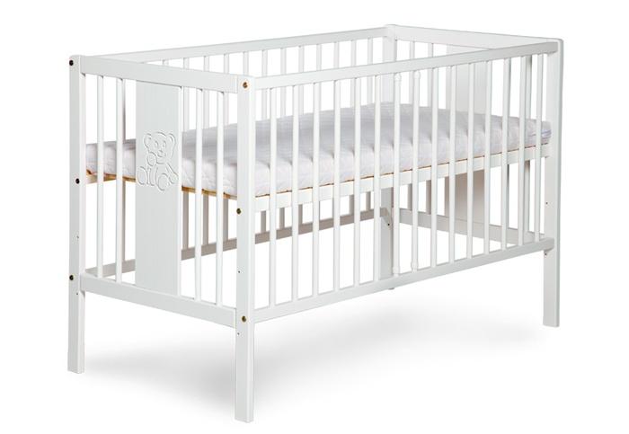 Łóżeczko Klupś Radek IX Miś - drewniane łóżeczko 120x60