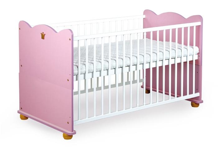 Łóżeczko dziecięce 140x70 rozkładane na tapczanik Klupś Księżniczka