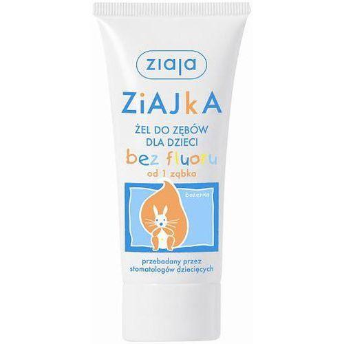 Pasta do zębów dla dzieci Ziajka - bez fluoru z 50 ml - od pierwszego ząbka