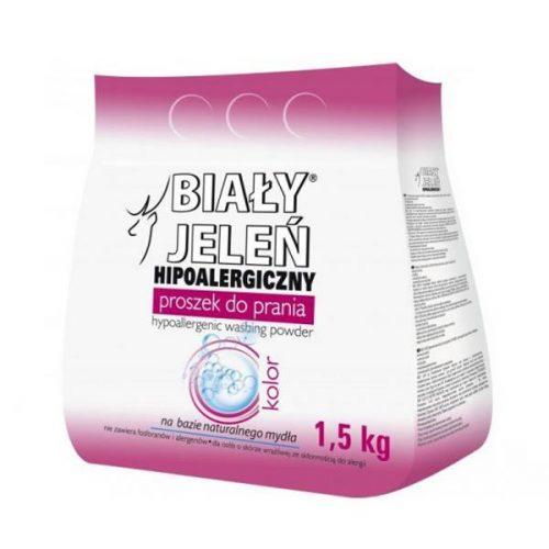 Ekologiczny i hipoalergiczny proszek do prania Biały Jeleń 1,5 kg - kolor