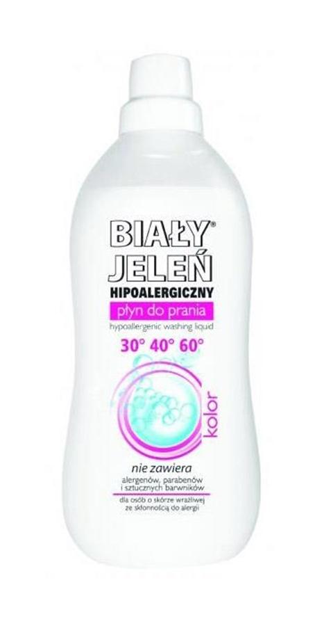 Biały Jeleń - hipoalergiczny płyn do prania kolorowych tkanin 1L kolor