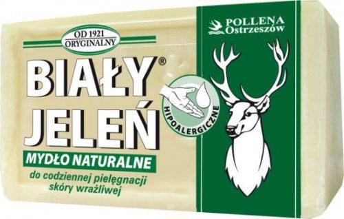 Hipoalergiczne naturalne mydło Biały Jeleń Premium 100G, mydło pakowane w Kartonie