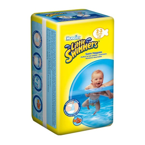 Pieluszki do kąpieli Huggies Little Swimmer 2-3 (3-8 kg) 12 szt.