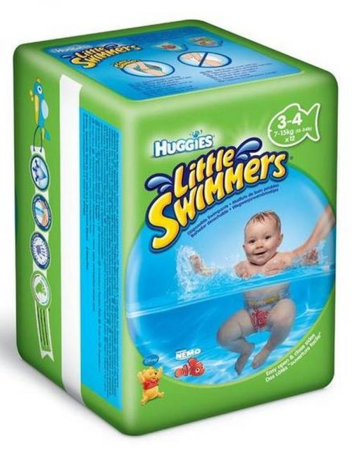 Pieluszki do kąpieli Huggies Little Swimmer 3-4 (7-15 kg) 12 szt.