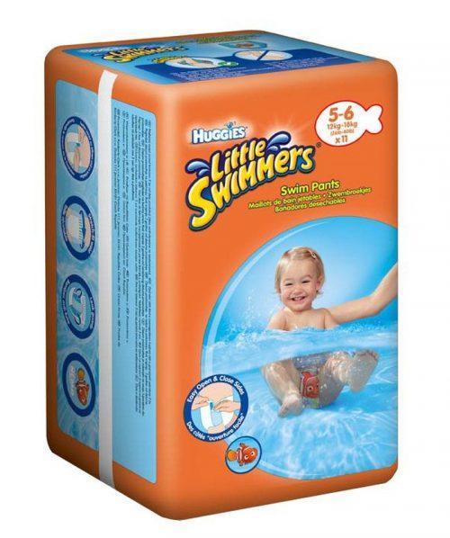 Little Swimmers pieluszki kąpielowe dla dzieci 12-18 kg 11 szt. - rozmiar 5-6