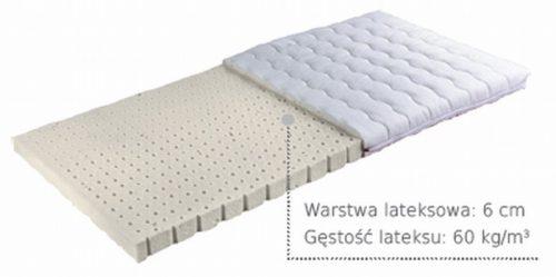 Janpol materac lateksowy do łóżeczka dziecięcego Irys średnio twardy 120 x60 cm