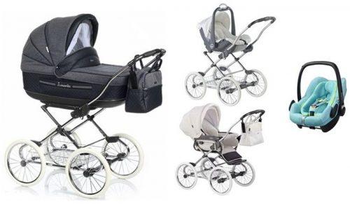 3w1 Marita Prestige - stylowy wózek Retro + fotelik 0-13 kg z testami ADAC