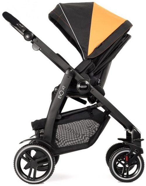 Wózek spacerowy Graco Evo XT - amortyzacja koła gumowe