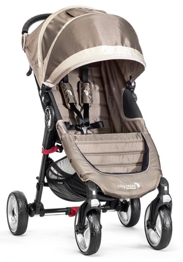 Kompaktowy lekki wózek spacerowy City Mini Baby Jogger - wersja 4 kołowa + pałąk i folia przeciwdeszczowa