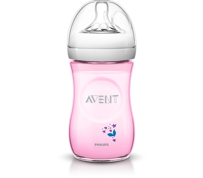 Avent Butelka natural 260ml różowa SCF 620/17