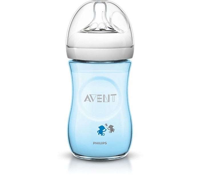 Avent Butelka natural 260 ml niebieska  SCF 621/17