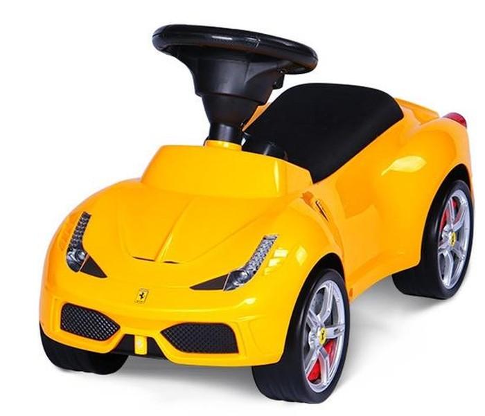 Pchacz dla dlacie jeździk Ferrari 458 żółty
