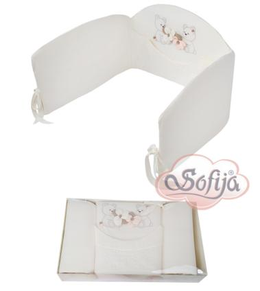 Ochraniacz do łóżeczka 120x60 Cekinka Sofija