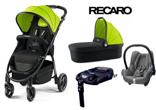 Wózek głęboko spacerowy Recaro CityLife z gondolą i fotelikiem z testami ADAC Privia, Maxi Cosi, Kiddy, Concord, opcja baza Isofix lub na pas