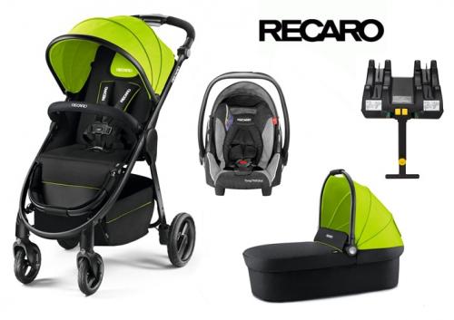 4w1 wózek głęboko spacerowy Citylife z fotelikiem samochodowym Young Profi Plus 0-13 Recaro + baza isofix