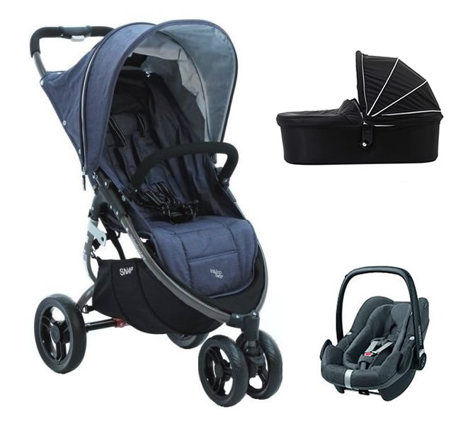 3w1 Super lekki wózek spacerowy 6,6 kg Limited Edition Snap Tailor Made Valco Baby + fotelik 0-13 kg + gondola